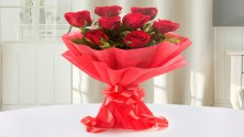 8 Red Rose Bouquet